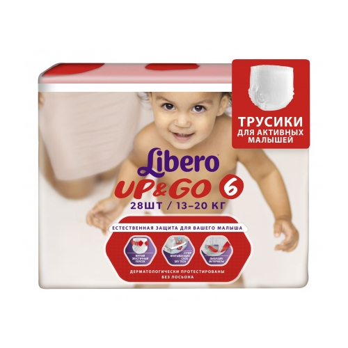 Трусики Libero Up & Go 6 (13-20) кг - 28 шт