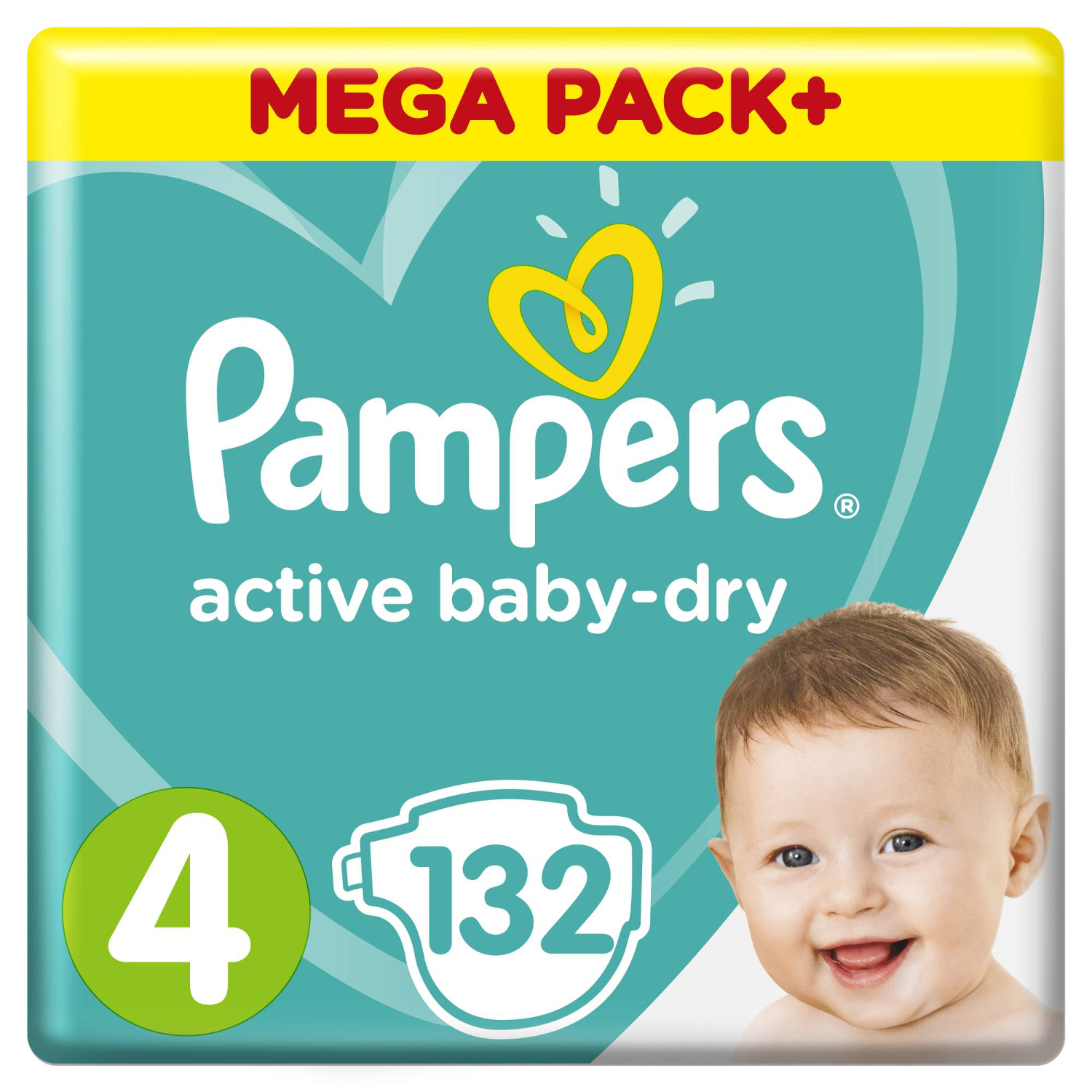 Подгузники Pampers Active Baby-Dry 4 (9-14 кг) - 132 шт