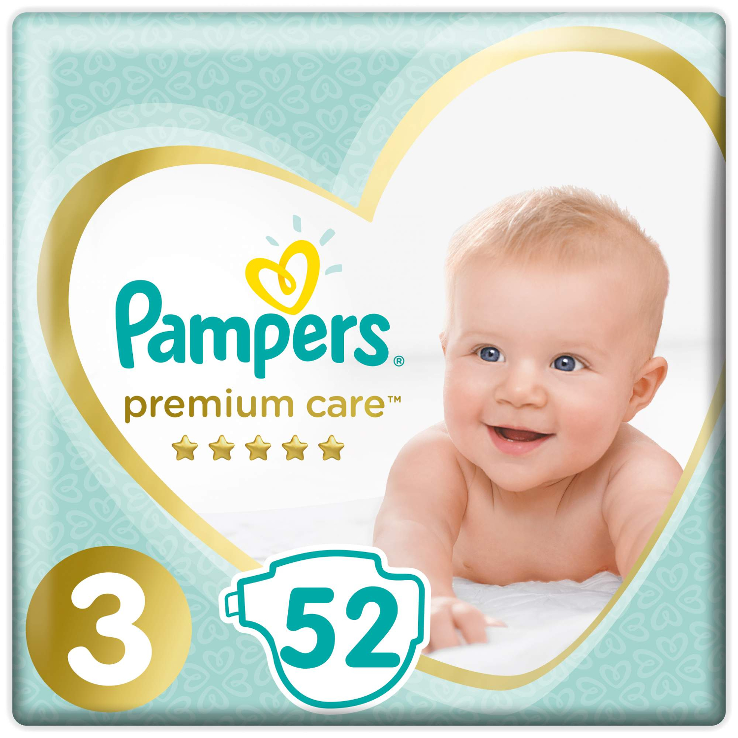 Подгузники Pampers Premium Care 3 (6-10 кг) - 52 шт
