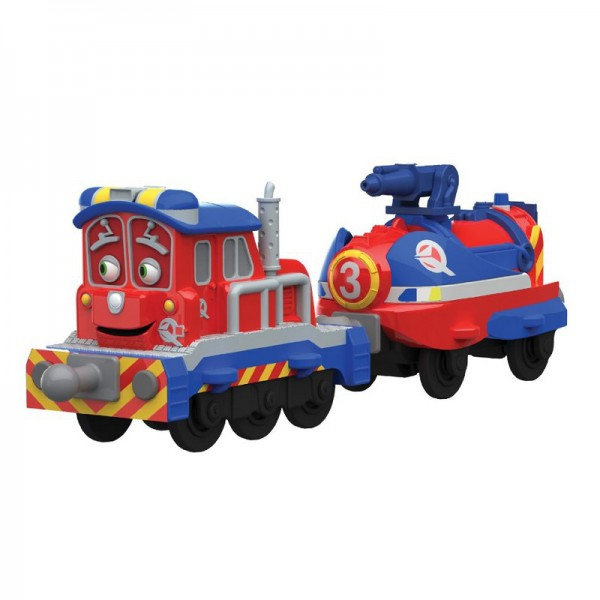 Chuggington StackTrack Паровозик Калли с прицепом