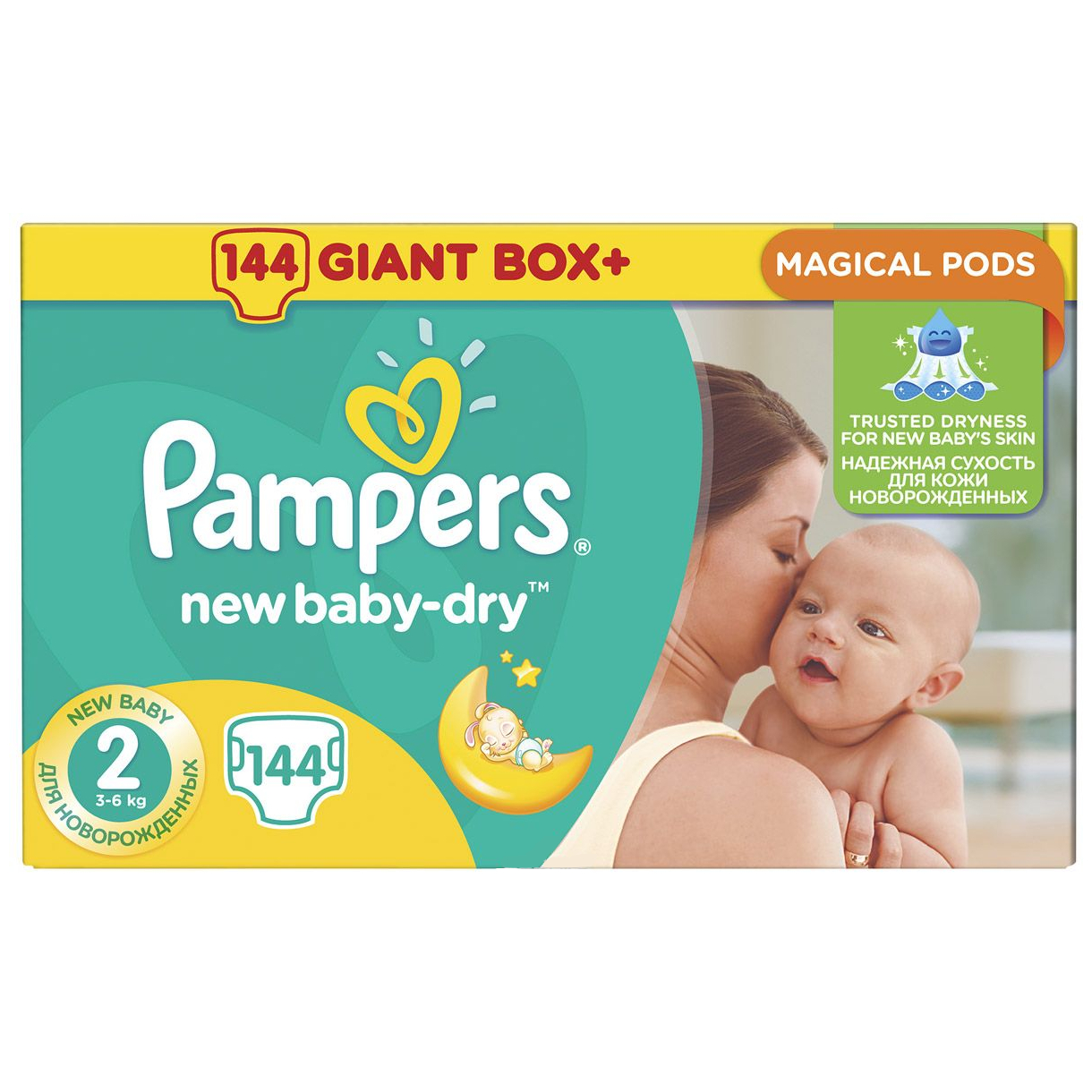 Подгузники Pampers New Baby-Dry 2 (4-8 кг) - 144 шт