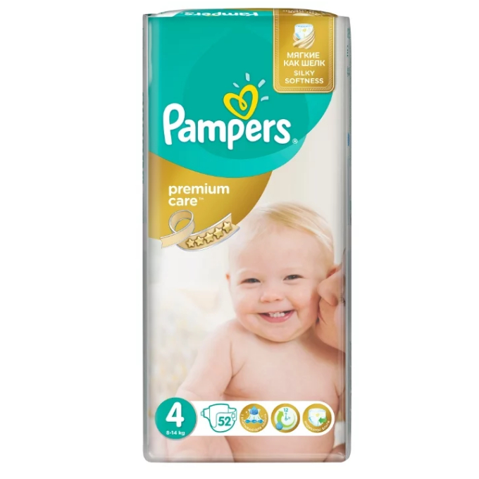 Подгузники Pampers Premium Care 4 (8-14 кг) - 52 шт