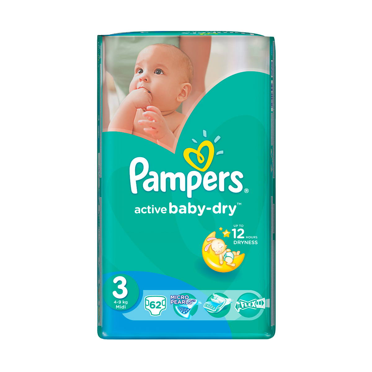 Подгузники Pampers Active Baby-Dry 3 (5-9 кг) - 62 шт