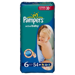 Подгузники Pampers Active Baby-Dry 6 (15+ кг) - 54 шт