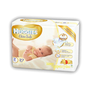 Huggies Elite Soft 4-7 кг - 27 шт