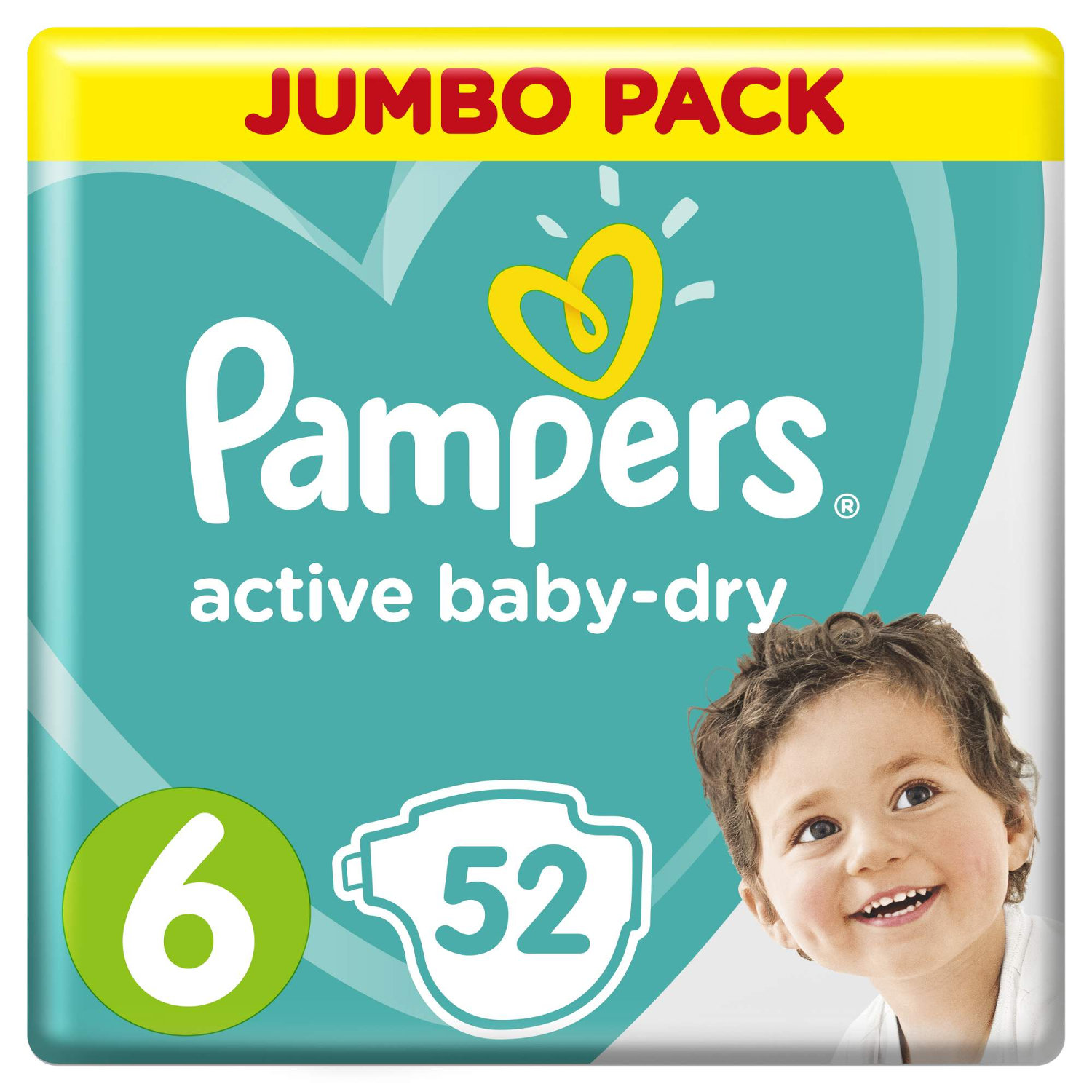 Подгузники Pampers Active Baby-Dry 6 (13-18 кг) - 52 шт