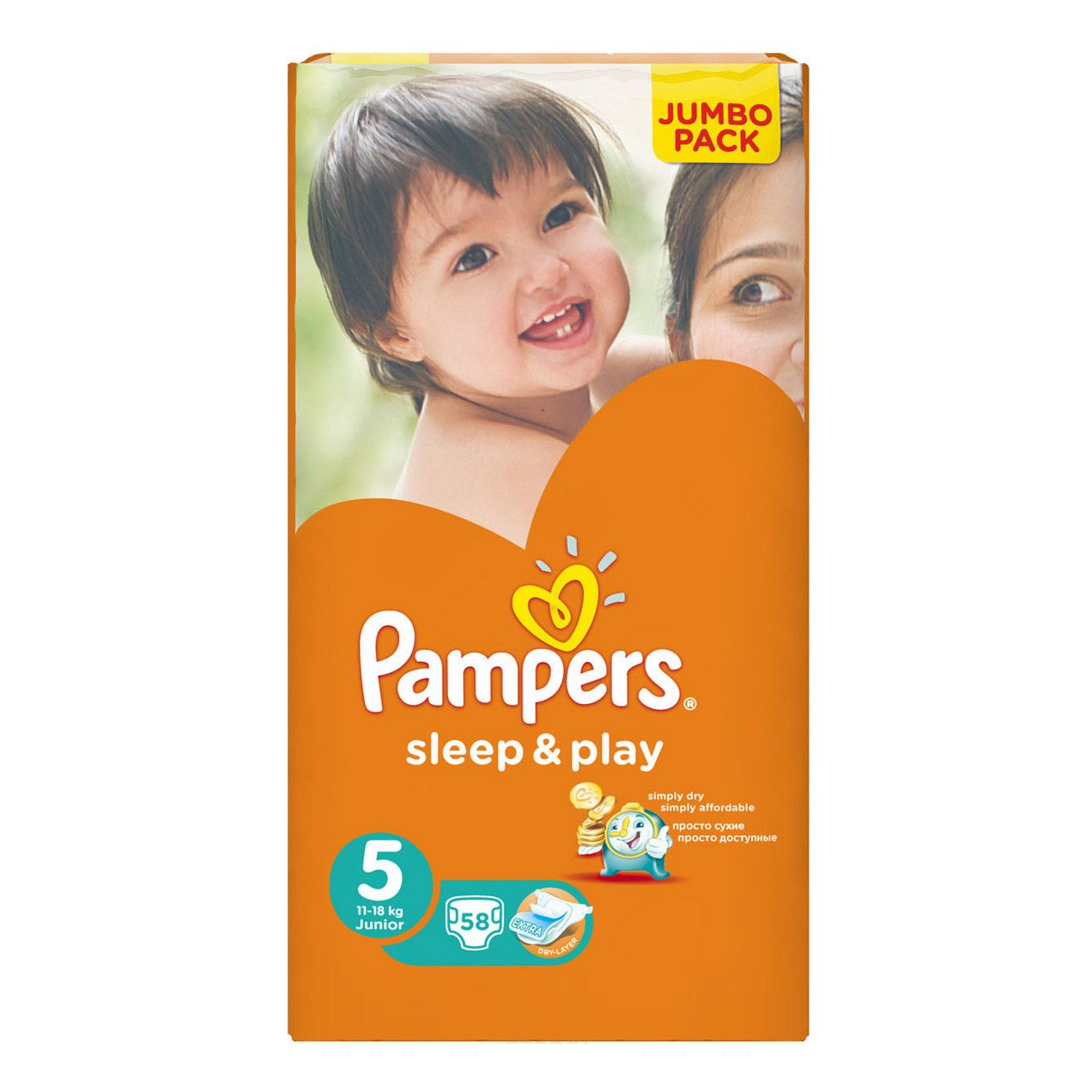 Подгузники Pampers Sleep and Play 11-18 кг - 58 шт ( junior )