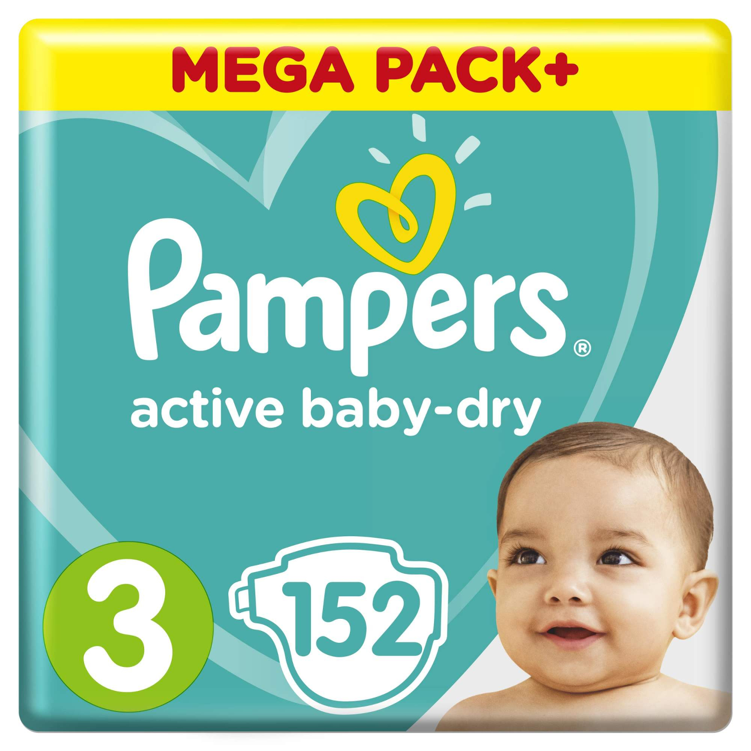 Подгузники Pampers Active Baby-Dry 3 (6-10 кг) - 152 шт