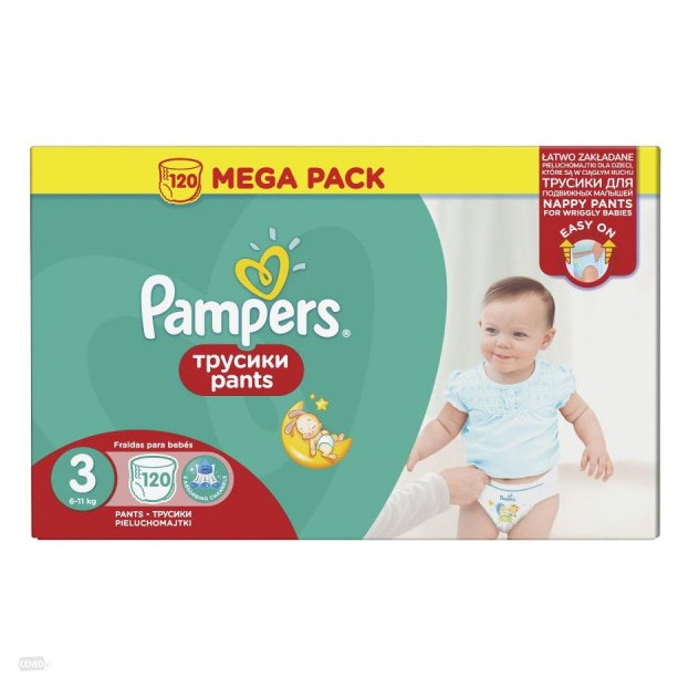 Трусики Pampers Pants 6-11 кг - 120 шт