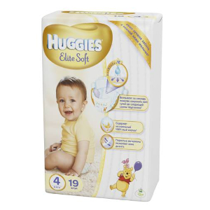Подгузники Huggies Elite Soft 4 (8-14 кг) - 19 шт