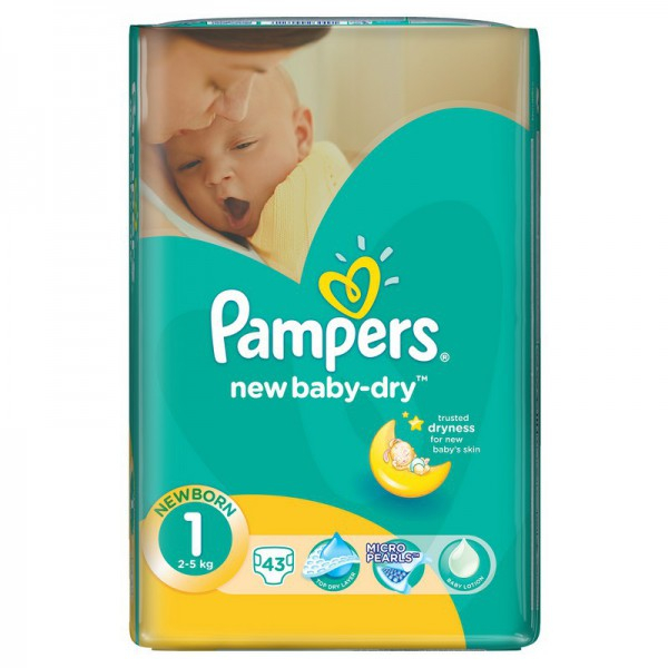 Подгузники Pampers New Baby Dry 1 (2-5 кг) - 43 шт